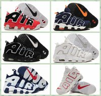 big man sports - 2016 Mens More Uptempo Sneakers Big Air Basketball Shoes Black White USA Olympics Retro Pippen Sport Running shoes US