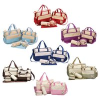 Wholesale Hot Colors Set High Quality Tote Baby Shoulder Diaper Bags Durable Nappy Bag Mummy Mother Baby Bag