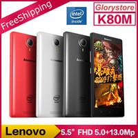 atom mobile phone - Original Lenovo K80 K80M Android Mobile Phone Intel Atom Z3560 Quad Core FDD LTE inch FHD G RAM G ROM NFC IN STOCK