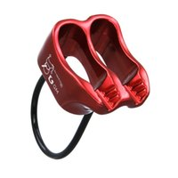 Wholesale 25KN V grooved Double Slot Climbing Belay Device Descender Rappelling Rock Climbing Rope Access For Rescue Guard