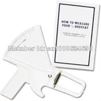 Wholesale Drop shipping Slim Guide Skinfold Caliper Body Fat Measure Mass Fitness Weight Loss body fat caliper