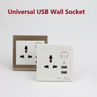 Wholesale Universal electrical plugs sockets AC V US UK EU AU plug adapter V USB Wall Socket Outlet Power Charger for Cellphone