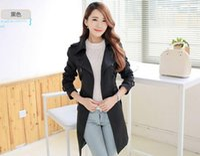 Wholesale 2016 new arrive Korean Spring Autumn slim women s coats Double breasted women s trench coats Women s windbreaker colours black plus size