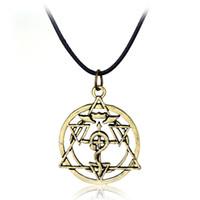 anime metal alchemist - Anime Series Japanese Cartoon Full Metal Alchemist Round Metal Pendant Necklace