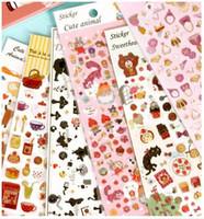 Single-Sided as photos as photos New Korea Sweet 3D Animal series Gilding style sticker DIY Multifunction Label phone sticker Wholesale , dandys