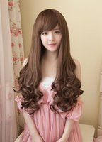beautiful small machines - Beautiful Elegant fashion women girl hot salein Korea brown pear flower brown style oblique air bang wig cheap price with quality rose net