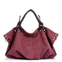 Wholesale Vintage New High Quality canvas Women Handbags Women Tote Women Clutch Bolsas Femininas Ladies Shoulder Rivet Canvas Bags