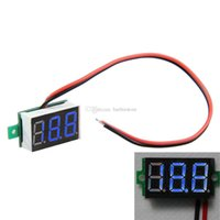 Wholesale Mini DC V Blue quot LED Digital Display Voltage Voltmete Panel New B00204 SMAD