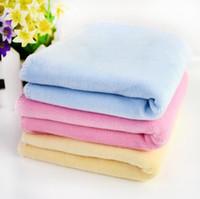 Wholesale 25 cm Baby Towel Cotton Super Soft Infant Toddler Gauze Newborn Towel Washing Thick Free Ship T7028