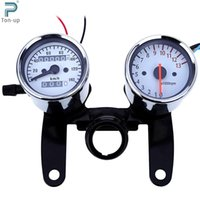 Wholesale Universal Odometer Speedometer Tachometer RPM LED Back Lights Mechanical Motorbike Gauge Meter with Bracket