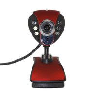 Wholesale 1Pcs USB Webcam Web Camera Digital Video Webcamera Megapixel Digital LED HD Webcam with Microphone for PC Laptop Skype