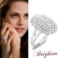 bella charm bracelet - 4059 Twilight Bella wedding ring full diamond engagement ring zinc alloy jewelry elegant charm bracelet ring free delivery