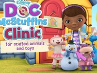 animate cartoon figures - Game Doc McStuffins Clinic Doll Toy Clothes Shoes Box Packing Girl Kid Gift Animated toys little doctor Doc McStuffins Doctor toy