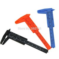 Wholesale mm Plastic caliper Plastic Vernier Caliper measuring tools for school Drop shipping