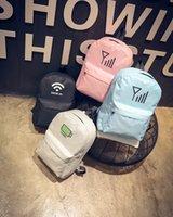 Wholesale Cute Candy Color WIFI or Sign Pattern Backpacks Simple Mini Bag Backpacks School Bags Backpacks for Ladies Backpacks for Girls
