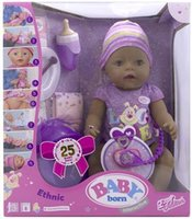 Wholesale Hsb toys ZAPF Zapf Baby Annabell doll with many functions like tear feed drink Blink cm dolls with bottle and black baby