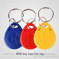 access card accessories - 50Pcs Plastic Keytag KHZ rfid card Mix Color Key tag Accessories for hotel door access control card reader keytag