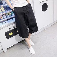 big bloomers - Summer Bloomers Male Loose Harem Pants Plus Size Casual Capris Male Loose Line Trousers Big Size M XL