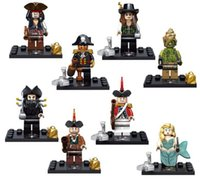 baby sparrows - 8pcs set Pirates of the Caribbean Minifigures Building Blocks Captain Jack Sparrow Bricks Baby Toys Kids Gift On Stranger Tides