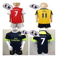 arsenal gifts - 2016 Arsenal Soccer Jerseys patches kids boys best gift kits set Away home WILSHERE OZIL WALCOTT RAMSEY ALEXIS XHAKA CECH shirt