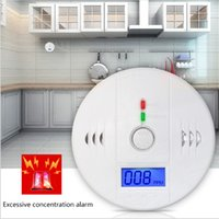 Wholesale CO Carbon Monoxide Tester Alarm Warning Sensor Detector Gas Fire Poisoning Detectors LCD Display Home Safety Alarms