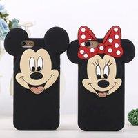 La piel suave de la cubierta de la caja del silicón del nuevo de Mickey Minnie Mouse amante grande del pato de Donald para Iphone5 5s 6g 6s / 6plus 6splus