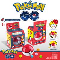 ball launcher - Zorn toys Poke go Pokémon plastic catapult Poke Ball launcher Pikachu Style random