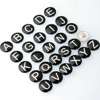 al por mayor cartas brazaletes de encanto-Noosa Letra del alfabeto encaje botón de encaje para el botón de encaje de cuero pulsera de mezcla (una sola carta para vender) AC306