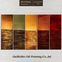 artist supply manufacturers - Manufacturer Directly Supply High Quality Artist Handmade Five Panels Modern Abstract Oil Painting On Canvas For Wall Decoration