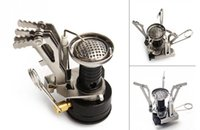 Wholesale Portable Outdoor Picnic Gas Burners Foldable out door Camping Mini Steel Stove Case