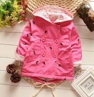 Wholesale Hot sales Spring Autumn Baby Coat Outwear Children s Jackets Clothes Casco Infants Outerwear Girl Hoody Cardigan Trench Coat