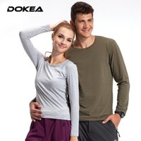 Wholesale New Long sleeved T shirt Men Women Do Not Fade Outdoor Leisure Sports Couples Sport Comfort Stretch Fabric Breathable Subcoating