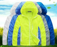 Wholesale unisex jacket summer clothes thin quick dry sun protective clothing sport jacket Sun block UV protection clothing summer jacket Ski wear