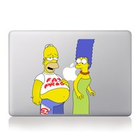 Wholesale DH016 Homer s Fat Tummy Vinyl Laptop Sticker For Apple Macbook Air Pro quot quot quot inch The Simpsons