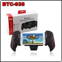 Wholesale Extending Wireless Bluetooth Telescopic Controller BTC BTC938 Game Joystick Gamepad for Android Phone iPad iphone Samsung S6 S7