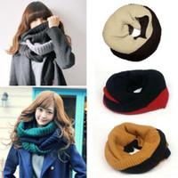 acrylic scarf rings - Hot Unisex Men Women Winter Warm Knitting Wool Collar Neck Warmer Women Crochet Ring Spain Loop Scarf