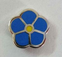 area flowers - Nickel Plating MM Epola freemasonry gift flower pin masonic forget me not lapel pin dropshipping to some area