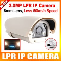 Wholesale License Plate Capture Recognition MP IP LPR Camera For Highway Toll gate P IR Cut Array White Light Leds mm Fixd Lens