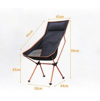 moon chair - Portable Ultralight Collapsible Moon Leisure Camping Chair with Bag for Outdoor Hiking Travel Picnic BBQ Beach Fishing