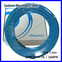 Wholesale V W Indoor Underfloor Singer Conductor Heating Cable System Electric Heater Wire For Kitchen And Bathroom Home Warming
