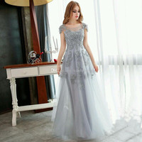 bandages sleeve designs - 2016 Hot Vintage Evening Dresses Especially for Girls A Line Elegant Couture Dress Applique Flower and Tulle Design Runway Show Party Gowns
