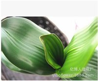 arranging orchids - Fashion Mini Artificial Green Butterfly Orchid Leaf Plastic Material Leaf Flower Arranging Accessories Decoration