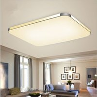 Wholesale Stepless Dimming Ceiling lamp Modern Dimmable LED chandelier Acryl Golden Silver ceiling lamp remote control pendant light lights droplight