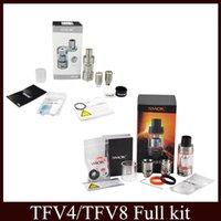 Wholesale SMOK TFV4 TFV8 Cloud Beast Tank atomizer Full Kit ml Top Refill Adjustable airflow Sub Ohm coils For Xcube II Box Mod