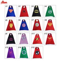 Wholesale Superhero capes Theme capes Activity capes Children capes Flying capes Marvel Cartoon capes cloaks about superman spiderman Hulk Flash