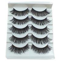 big d tools - 5Pairs Makeup Long Thick Cross False Eyelashes Smokey Big Eyes Eye Lashes Extension Tools New