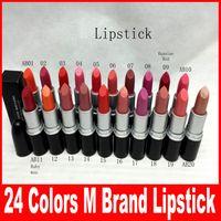 Wholesale 2016 Frost Sexy lipstick Lipstick HOT NEW M Makeup Luster Lipstick Frost Lipstick Matte Lipstick g colors lipstick free DHL