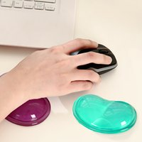 Wholesale Heart Silicon Mouse Pad wrist support Clear Wristband Pad For Desktop Computer mouse pads Wonderful Gift