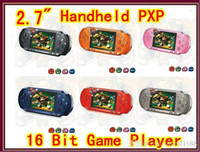 Wholesale 2 inch multicolor LCD screen pxp game console Bit Handheld PXP Game Player multi color JBD PXP3