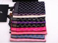 Wholesale 2016 Women Fashion Letter Silk Cotton Long Scarves Wrap Shawl Pashmina Classic Scarf